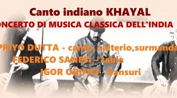 16 ottobre : concerto di musica indiana